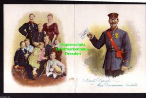 Klappkarte Neustrelitz Neueste Depesche Los Staats Lotterie 1898 Kaiserfa