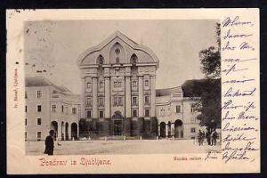 Ansichtskarte Laibach Ljubljana 1898 Dreifaltigkeitskirche Ursulinenkirche Nunska cer