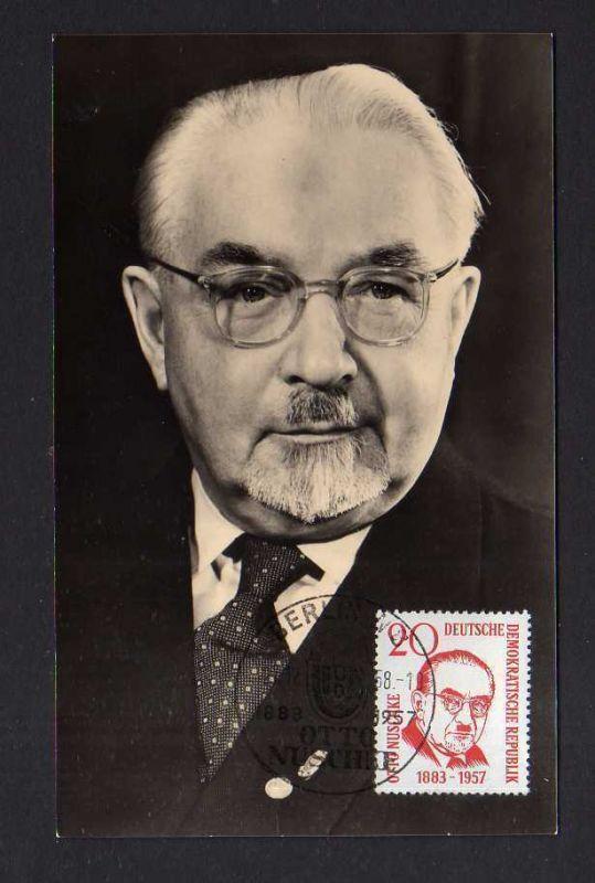 Maximumkarten DDR 1958 671 Otto Nuschke