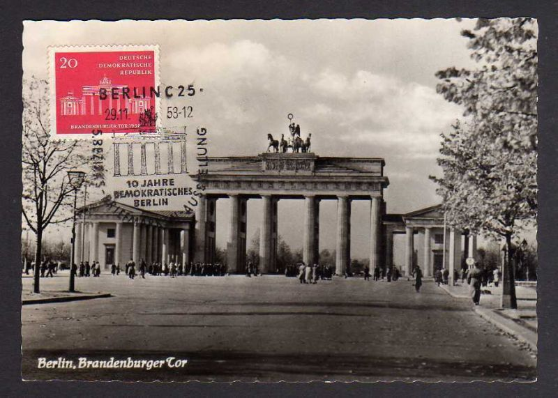 Maximumkarten DDR 1958 665 Brandenburger Tor Berlin