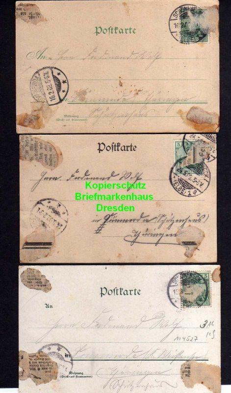3 Ansichtskarte Schönebeck Elbe 1901 Salzamt Markt Rathaus Schönebecker Zeitung Brei 1