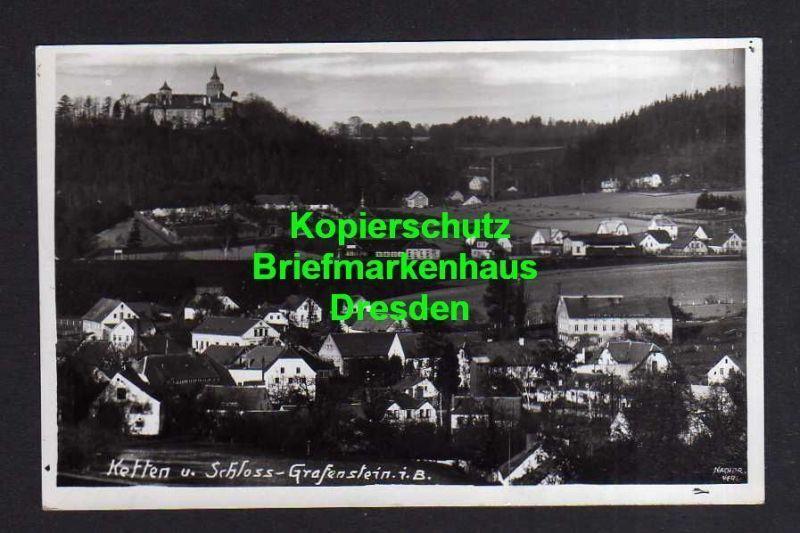 Ansichtskarte Ketten Kr. Reichenberg Sudetenland Chotyne 1939 Fotokarte Schloss Graf