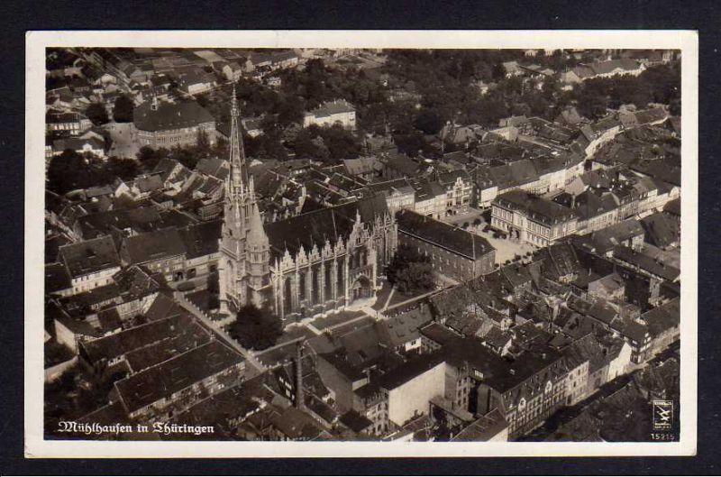 Ansichtskarte Mühlhausen in Thüringen 1938 Luftbild Fotokarte
