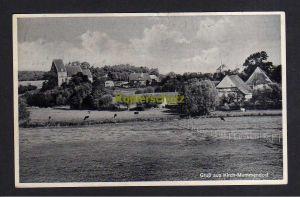 Ansichtskarte Kirch Mummendorf 1938 Panorama  Landpoststempel Tramm