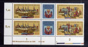 DDR 1978 2343 - 2344 DV 3 ** Zusammendruck Briefmarkenausstellung der Jugen
