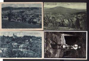 4 Ansichtskarte Schreiberhau Mariental Riesengebirge Weißbachtal Glasbläser Wegweise