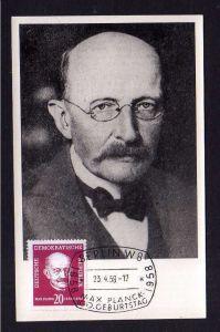 Maximumkarte DDR 627 Max Planck 1958 seltene private Maxi Karte 100. Gebu