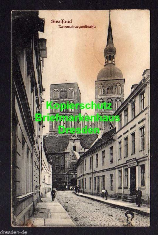 Ansichtskarte Stralsund Ravensbergerstraße Bau Möbel Tischlerei