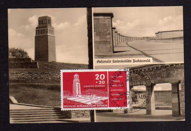 Maximumkarten DDR 1959 Weimar Buchenwald seltene private Maxi Karte