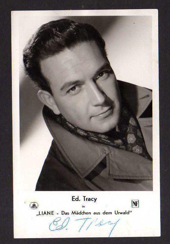 Autogrammkarte Ed. Tracy in Liane - das Mädchen aus dem Urwald