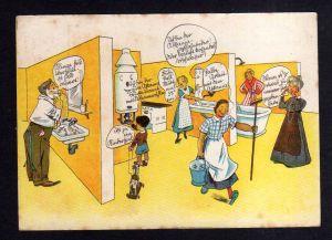 Ansichtskarte Lübeck Klempnermeister Werbung Reklame um 1940 Heizung Warmwasser ...