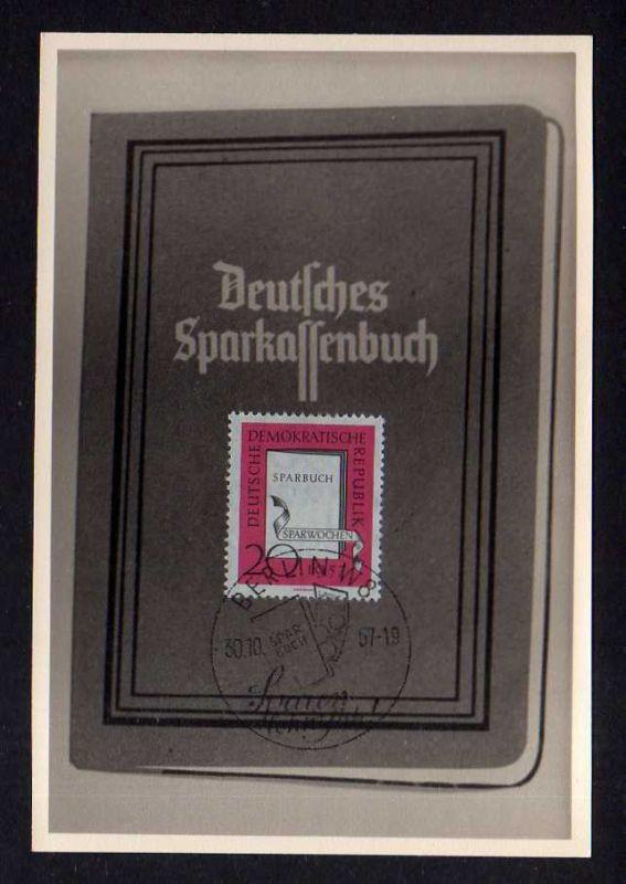 Maximumkarten DDR 599 Sparwochen Sparkassenbuch seltene private Maxi Kart