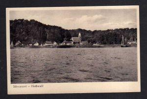 Ansichtskarte Schwarzort Hochwald Verlag Elch Drogerie Memel um 1935