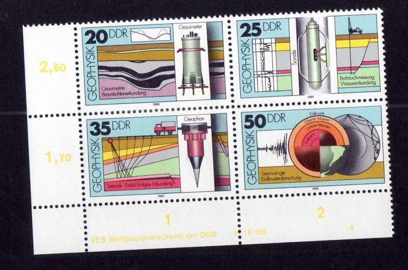 DDR 1980 2557 - 2560 DV FN 4 **  Geophysik