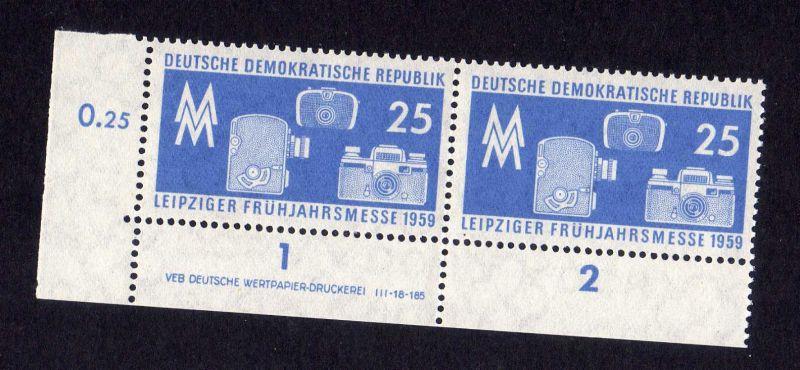 DDR 679 Leipziger Frühjahrsmesse DV ** ungefalten nicht angetrennt