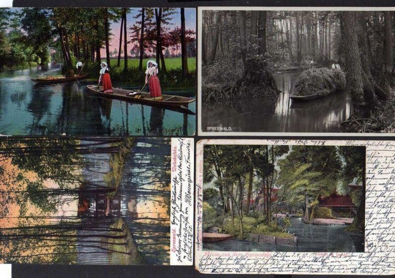 4 Ansichtskarte Spreewald Lübbenau 1932 Lehde 1903 Wotschofska 1905