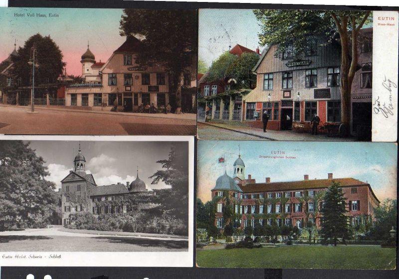 8 Ansichtskarte Eutin Großer Eutiner See Hotel Voß Haus An der Vosshausbrücke 1901 U 0