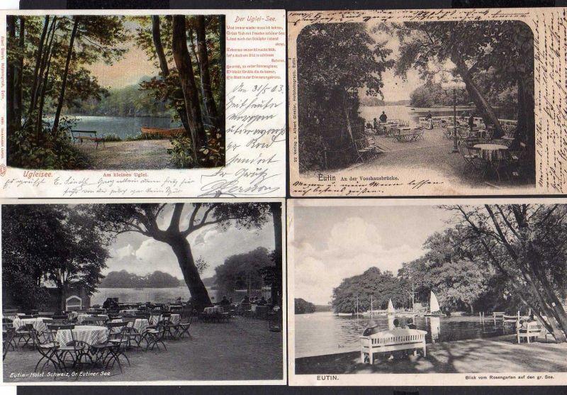 8 Ansichtskarte Eutin Großer Eutiner See Hotel Voß Haus An der Vosshausbrücke 1901 U 1
