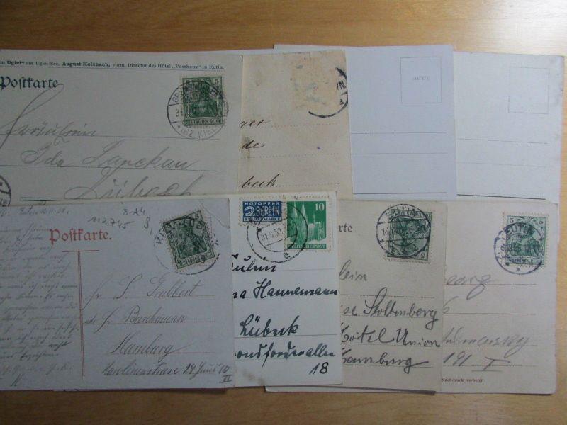 8 Ansichtskarte Eutin Großer Eutiner See Hotel Voß Haus An der Vosshausbrücke 1901 U 2