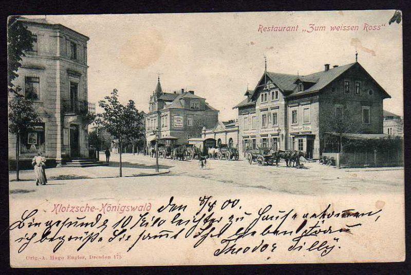 Ansichtskarte Dresden Klotzsche Königswald Restaurant Zum Nr 10162