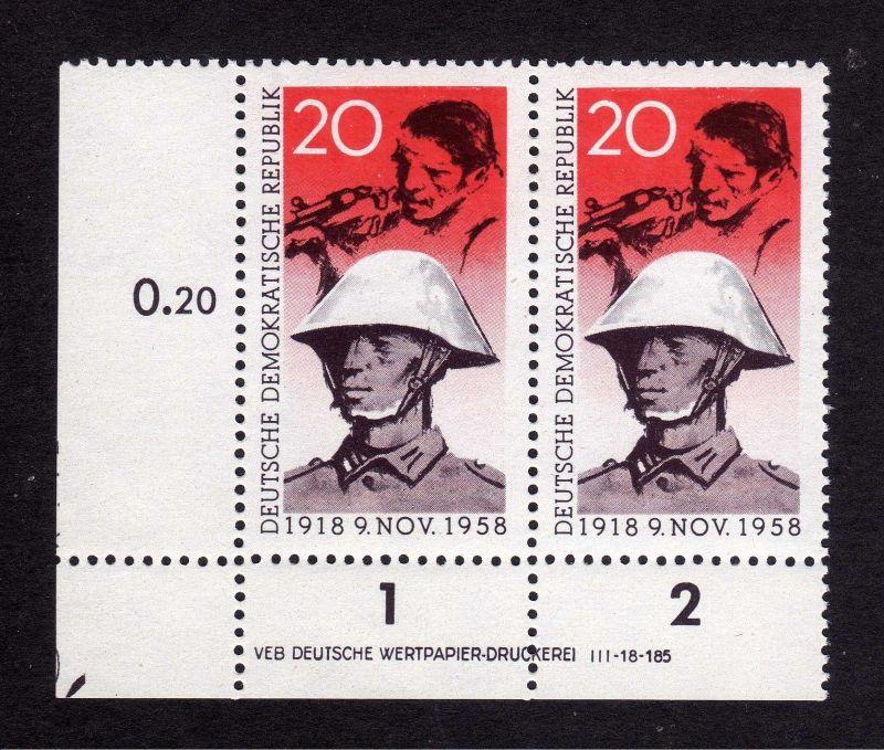 DDR 662 Novemberrevolution ** DV mit Eckmarkierung allseits durchgezähnt