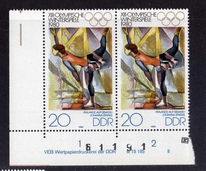 DDR 1980 2479 DV II ** Olympische Winterspiele Lake Placid