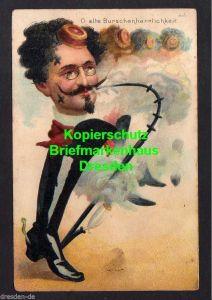 Ansichtskarte Gablonz a. d. Neisse 1901 O, alte Burschenherrlichkeit Litho Studentik