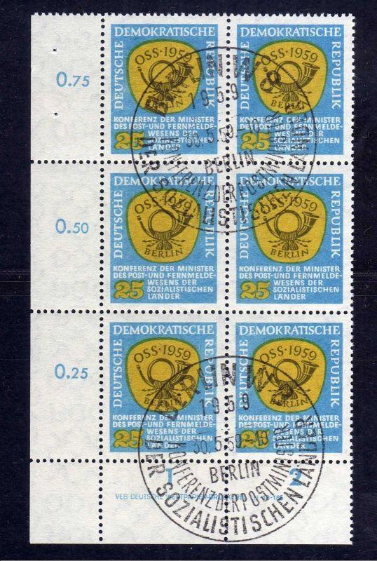 DDR 687 Postministerkonferenz OSS 1959 DV gestempelt SST ungefalten nicht an