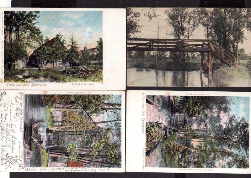 4 Ansichtskarte Spreewald Lehde Bauernhaus Einfahrt zum Fröhlichen Hecht Gaststätte