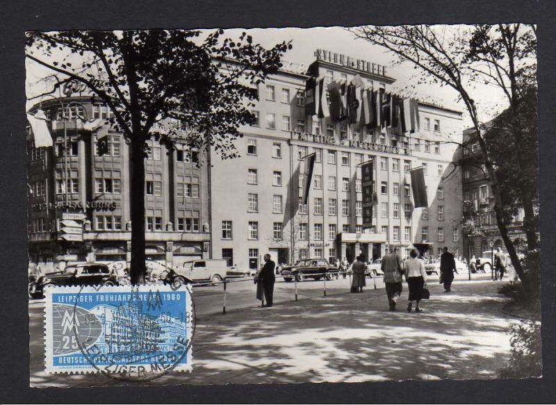 Maximumkarten DDR 1960 751 Leipziger Frühahrsmesse Ringmessehaus