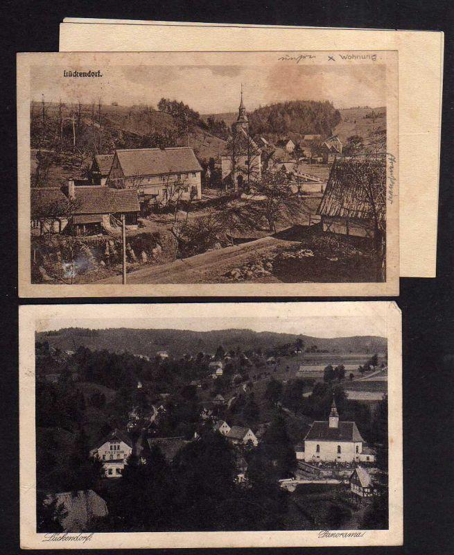 2 Ansichtskarte Lückendorf 1926 Gasthof Kirche