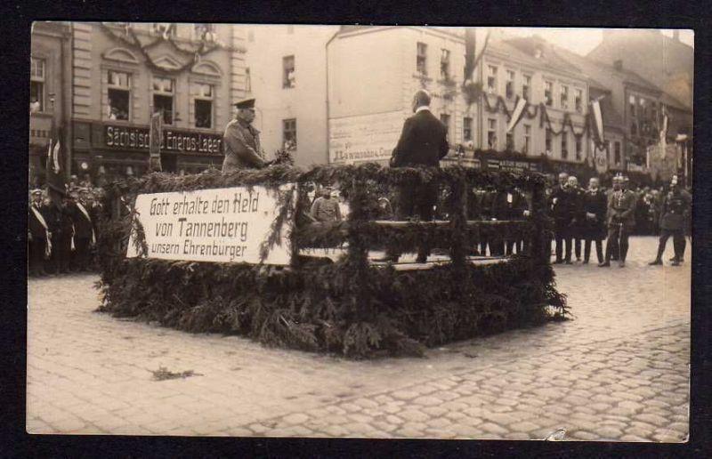 Ansichtskarte Feldherr Hindenburg Held von Tannenberg Ehrenbürger Sächsisches Engros