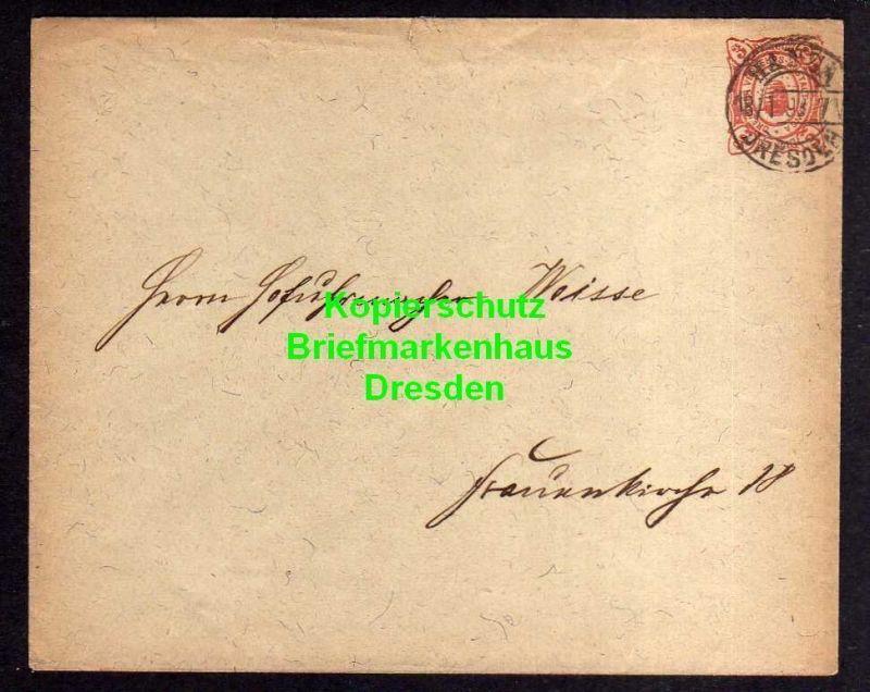 Privatpost Hansa Dresden 1893 Ganzsache an Hofuhrmacher Weise