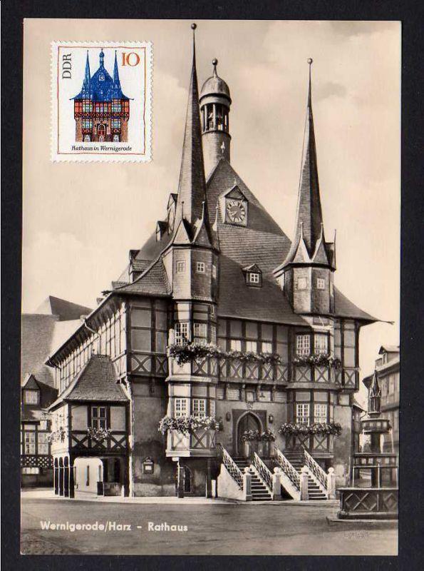 Maximumkarte DDR 1968 1379 Rathaus Wernigerode ungestempelt