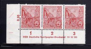 DDR 580 B Stalinallee DV ** ungefalten nicht angetrennt