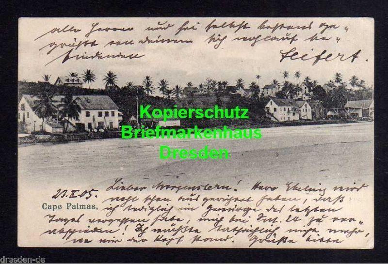 Ansichtskarte DSW 1905 Deutsche Seepost Linie Hamburg Westafrika Ausreise Südwest