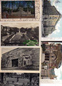 6 Ansichtskarte Düsseldorf Ehrenmal 1940 Tonhalle 1905 Kriegerdenkmal Kunsthalle