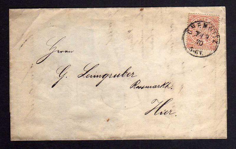 B122 NDP Norddeutscher Postbezirk 14 1/2 Groschen Chemnitz 1870