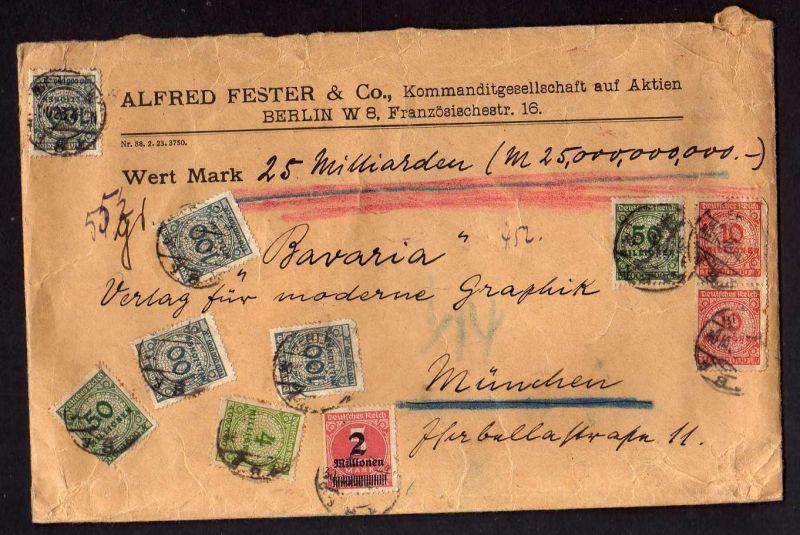 B026 Brief Deutschland 1923 Schwerer Wertbrief 552 Gramm 25