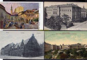 4 Ansichtskarte Brünn Brno Deutsches Staats Obergymnasium Zollamt Dorethof Bienenhau