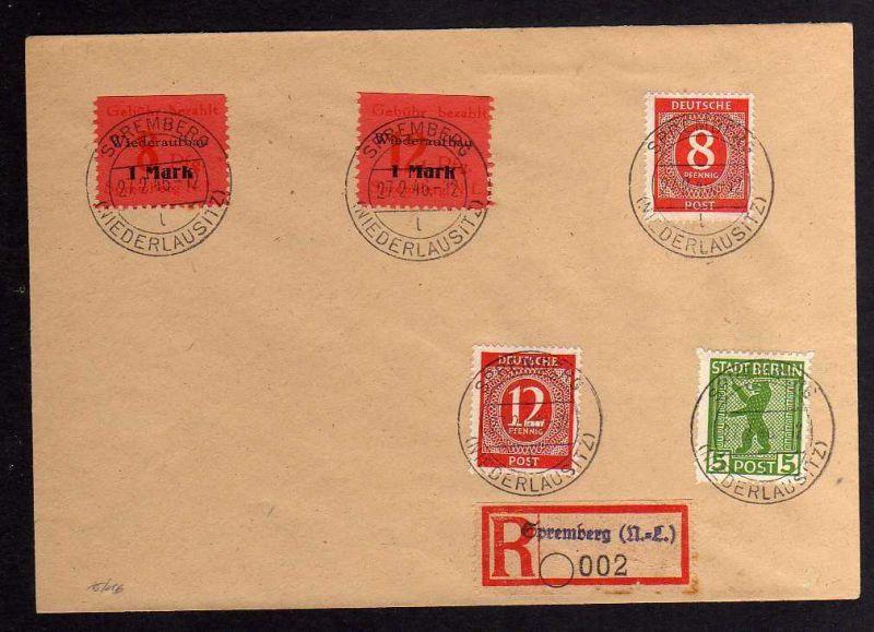 B044 Brief Deutschland Lokalausgabe Spremberg 15 A 16 A blanko