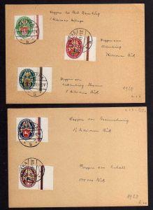 B024 DR Nothilfe 1928 425 - 429 Y  gestempelt Hartha 15.11.28 Ersttag FDC