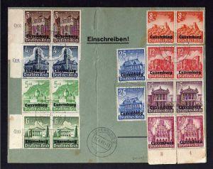 B032 Brief Deutschland Dt. Besetzung 2. Weltkrieg Luxemburg 1941 2 Sätze auf Sat