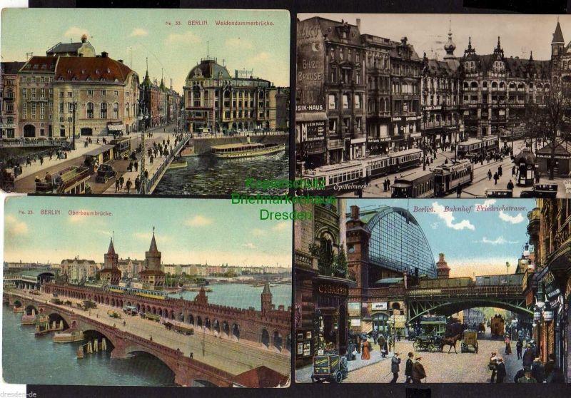8 Ansichtskarte Berlin Spittelmarkt Fotokarte 1926 Weidendammerbrücke Bahnhof Friedr