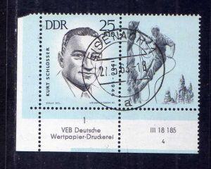 DDR 1962 962 gestempelt Eisenach Ersttag DV 4 und Farbbalken