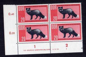 DDR 1962 945 DV Formnummer 1 ** Rauchwarenauktion Leipzig