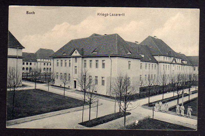 Ansichtskarte Berlin Buch Kriegs Lazarett um 1918 Kunstverlag Goldiner