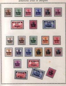 S53 Landespost in Belgien 1 - 8 und 9 - 25 komplett *