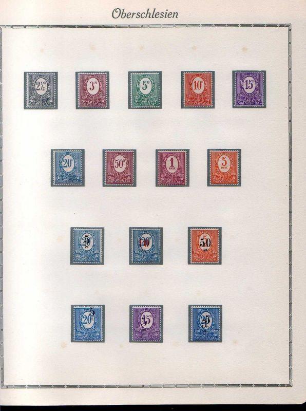 S59 Oberschlesien Sammlung Erstfalz * 1920 - 1922  1 - 43 komplett ohne Dienst