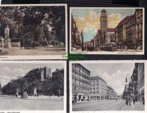 4 Ansichtskarte Berlin Neukölln 1927 Berliner Straße Rathaus Bergstraße Hohenzollern